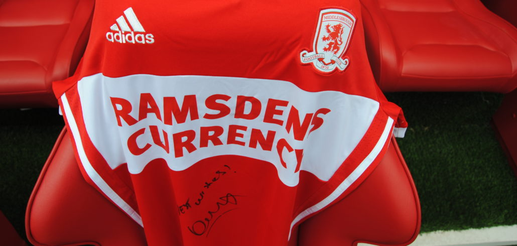 Brand New Middlesbrough FC Home Shirt Signed by Garry Monk