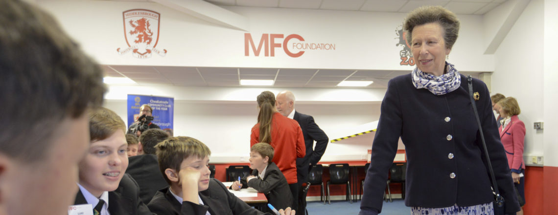 HRH The Princess Royal Visits MFC Foundation