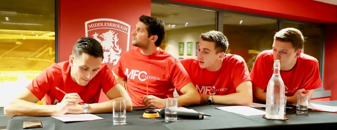 Boro Stars Past and Present Collide for 'A Question of Boro' Quiz Night