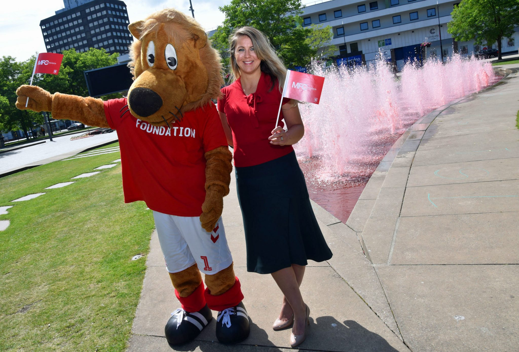 MFC FOUNDATION AND MIDDLESBROUGH COUNCIL PAINT THE TOWN RED