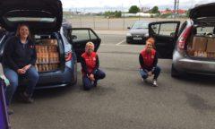 M F C Foundation staff ready to delivery orange juice