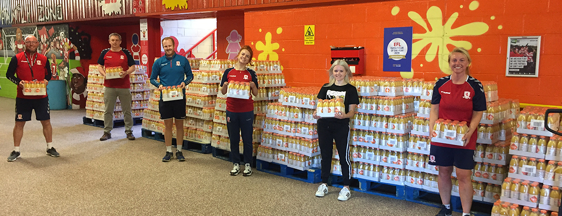Monumental Effort Sees 50,000 Bottles Of Orange And 40,000 Packets Of Crisps Distributed Throughout Our Region