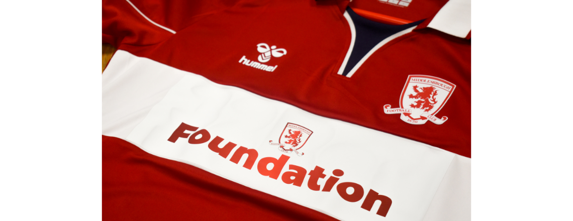 Foundation On Front Of Shirt For Stoke City Game